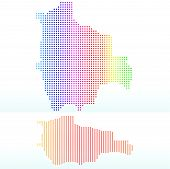 Map Of Plurinational State Of Bolivia With With Dot Pattern