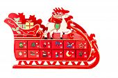 Wooden Advent Sled