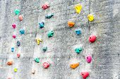 Climbing Wall With Climbing Aids