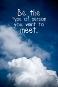 stock photo of open-source  - Inspirational quote by unknown source on vintage blue sky and light cloud background - JPG
