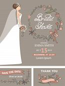picture of bridal shower  - Vintage Bridal shower set - JPG