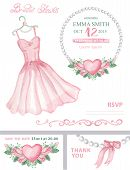 stock photo of bridal shower  - Bridal shower template set - JPG