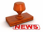 Rubber Stamp News (clipping path included)