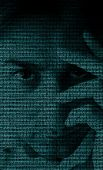Binary code portrait