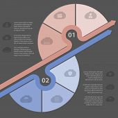 Infographic Design With Various Cloud Icons