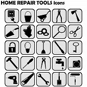 Set Of Home Repairs Icons