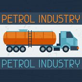 Petrol truck background.