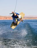 Man Wakeboarding At Lake Powell 08