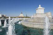 Exterior of the fountain in Astana, Kazakhstan.