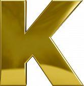 Gold Metal Letter K