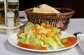 Mixed salad at Spanish restaurant.