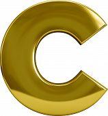 Gold Metal Letter C