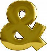 Gold Ampersand - &