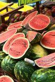 Watermelon Stand on Street Market in La Paz, Bolivia