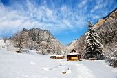 picture of pieniny  - Winter landscape in Pieniny Mountains Three Crowns Poland - JPG