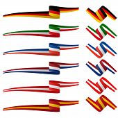 Collection Of European Country Flag Banners