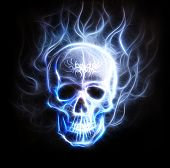 Pirate Skull Fractal Ornament Background Airbrush