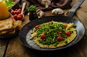 Healthy Omelet With Vegetables