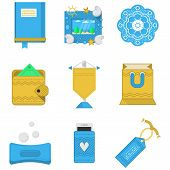 Colored icons vector collection for gifts