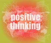 Positive Thinking On Screen - Motivation Business Concept