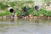 foto of wastewater  - Pollution of Air and Water - JPG