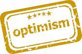 Optimism Stamp Isolated On White Background