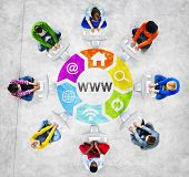 People Social Networking and WWW Concept