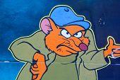 Street art Montreal funny rat