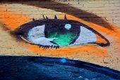 Street art Montreal eye