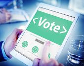 picture of voting  - Digital Online Vote Democracy Politcs Election Government Concept - JPG