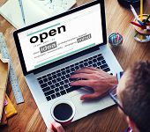 Business Online Idea Open Office Working Concept