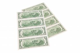 picture of two dollar bill  - Close up of two - JPG
