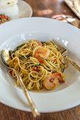 stock photo of thai cuisine  - close up of spicy spaghetti thai cuisine - JPG