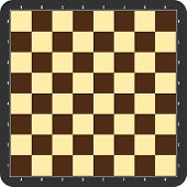 picture of chessboard  - Chessboard with dark grey frame - JPG