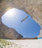 image of shipwreck  - The famous Navagio Shipwreck beach in Zakynthos island Greece - JPG