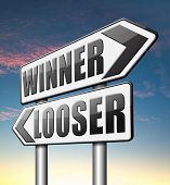 foto of lottery winners  - winner looser win or loose the sports game or competition start winning and stop being a looser change your luck  - JPG