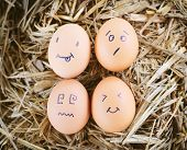 picture of morbid  - Painted eggs about emotion on the face - JPG