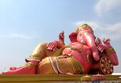 picture of hindu temple  - Ganesha statue and Hindu god in the temple - JPG