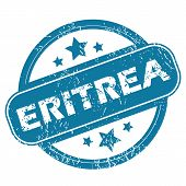 picture of eritrea  - Round rubber stamp with word ERITREA and stars - JPG