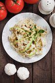 image of oregano  - Italian zucchini pasta with oregano and parmesan cheese - JPG