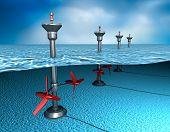 picture of generator  - Tidal energy - JPG
