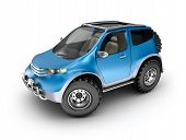 stock photo of muscle-car  - Blue offroad car concept - JPG