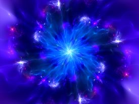 stock photo of higgs boson  - Magical blue explosion in space computer generated abstract background - JPG