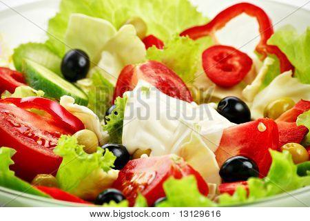 Постер, плакат: Свежие овощи фрукты и другие продукты питания Снят в студии , холст на подрамнике