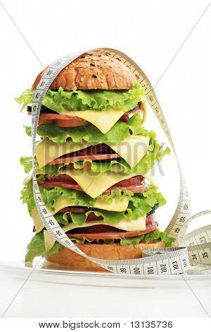 Постер, плакат: Естественная форма продукты питания кондитерские изделия Фаст фуд Снят в студии , холст на подрамнике