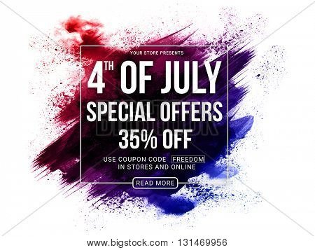 4th of July Special Offers, 4th of July Sale Poster, Sale Banner, Creative Abstract Sale Background