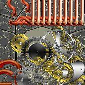 Постер, плакат: пара панк ретро механизм