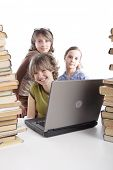 picture of sissy  - Girls with a laptop - JPG