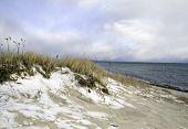 A Snowy Beach In Cape Cod, Massachusetts