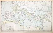 stock photo of apostolic  - Map of the Roman Empire in the Apostolic age from a nineteenth century Bible - JPG